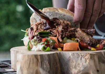 pulled-pork en bbq saus
